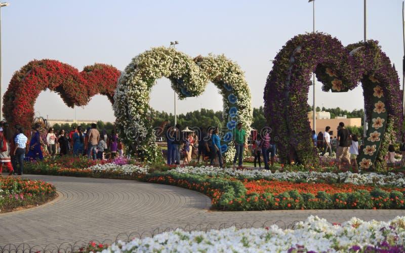 Giardino di miracolo - Dubai fotografia stock libera da diritti