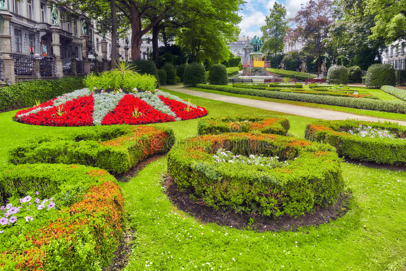 Giardino di piccolo Sablon (Jardin du Petit Sablon), Bruxelles, Belgi immagini stock libere da diritti