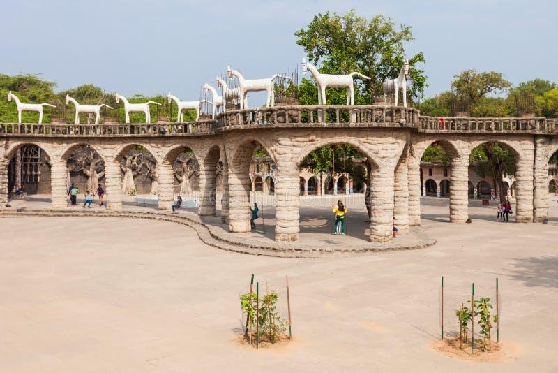 Giardino di rocce, Chandigarh immagini stock libere da diritti