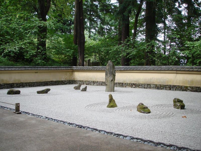 Giardino di rocce giapponese fotografia stock