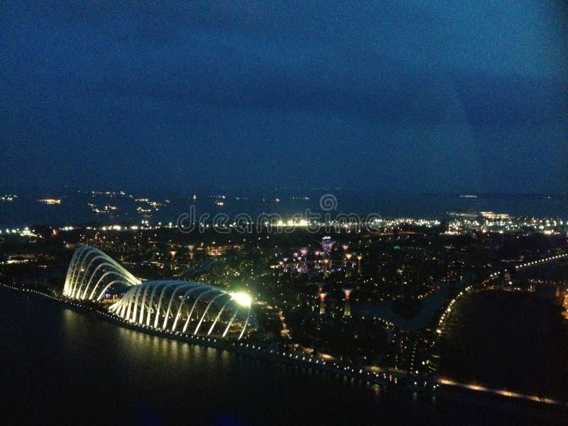 Giardino di Singapore dalla baia immagini stock libere da diritti