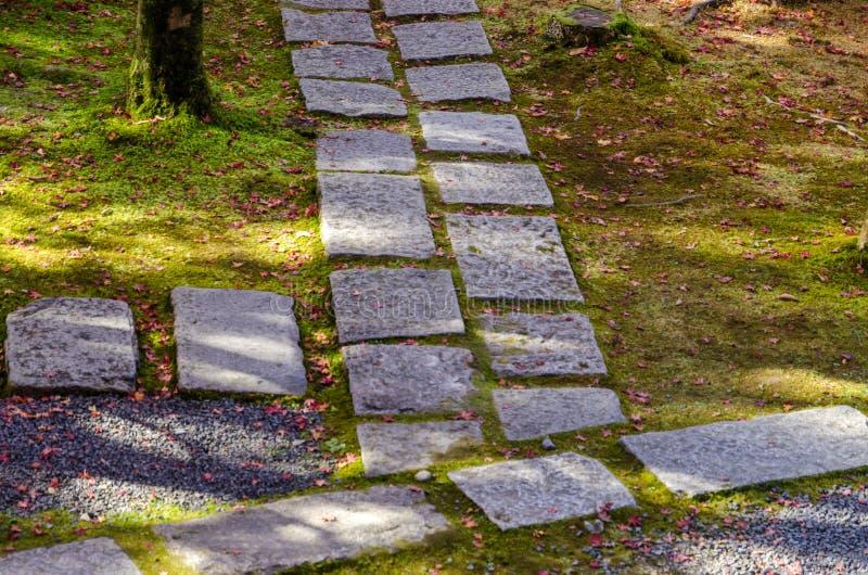 Giardino di stile giapponese a Kyoto fotografia stock libera da diritti