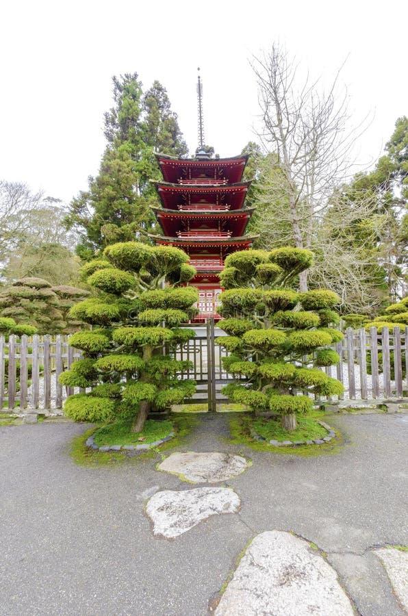 Giardino di tè giapponese, San Francisco immagine stock libera da diritti