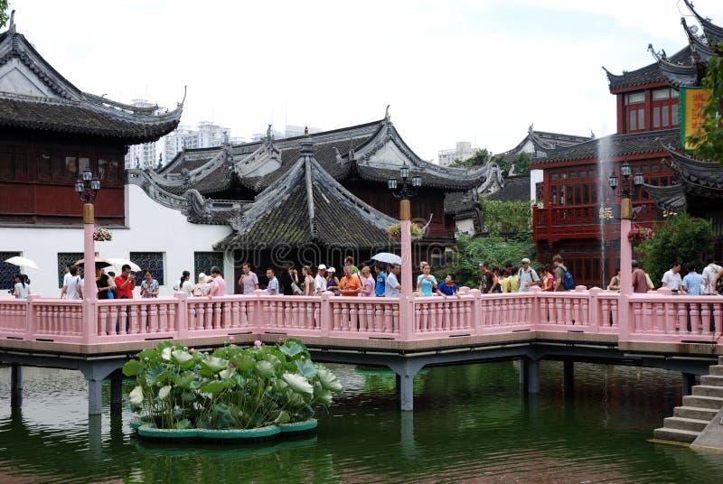 Giardino di Yu, giardino cinese storico a Shanghai immagini stock