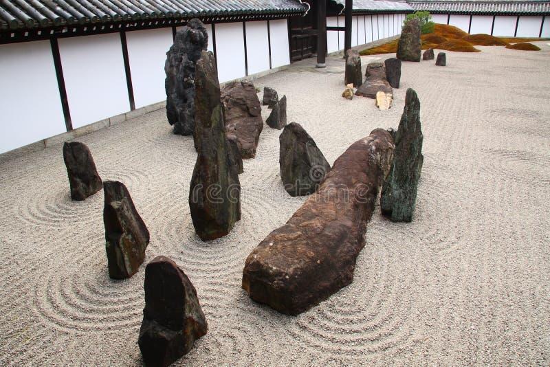 Giardino di zen a Kyoto immagine stock
