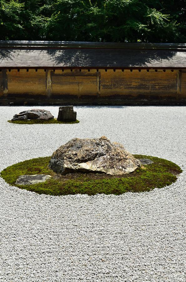 Giardino di Zen Rock del giapponese, Kyoto fotografia stock libera da diritti