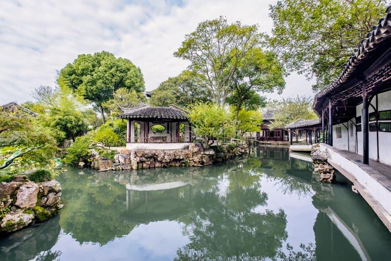 Giardino di Zhuozheng, città di Suzhou, provincia di Jiangsu, Cina fotografie stock
