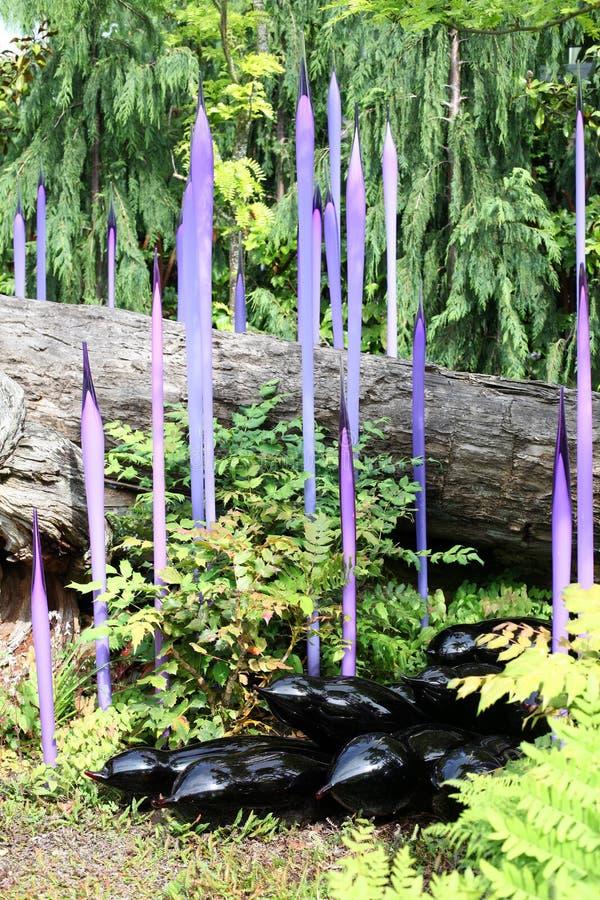 Giardino e vetro di Chihuly fotografia stock libera da diritti