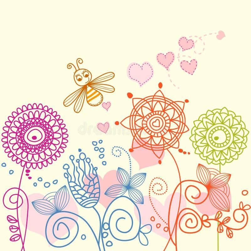 Giardino floreale royalty illustrazione gratis