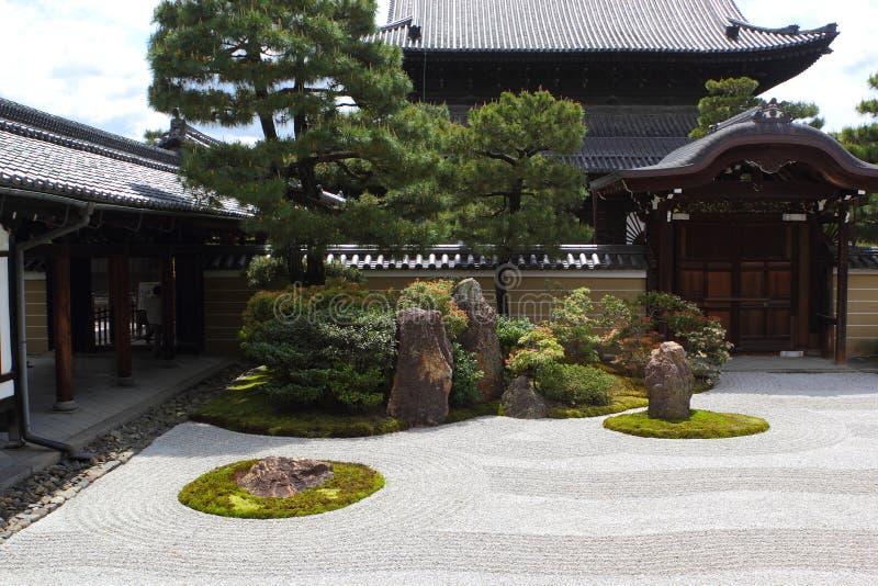 Giardino giapponese di Kennin-ji a Kyoto immagini stock