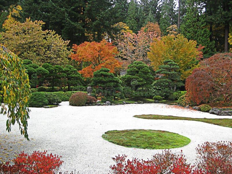 Giardino giapponese di Portland di colore di caduta immagini stock