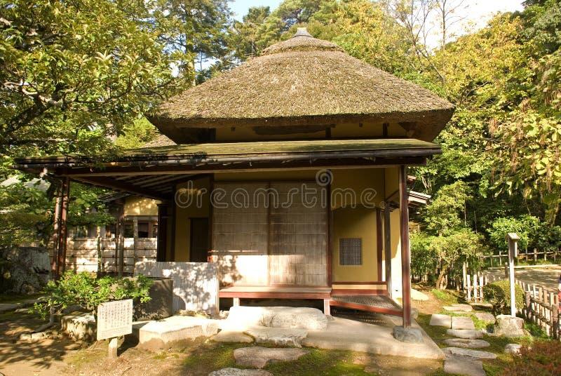 Giardino giapponese, Kanazawa, Giappone fotografia stock