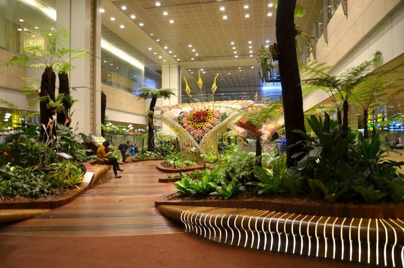 Giardino incantato all'aeroporto internazionale di Changi, Singapore immagini stock libere da diritti