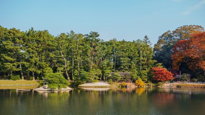 giardino Koraku-en a Okayama fotografie stock