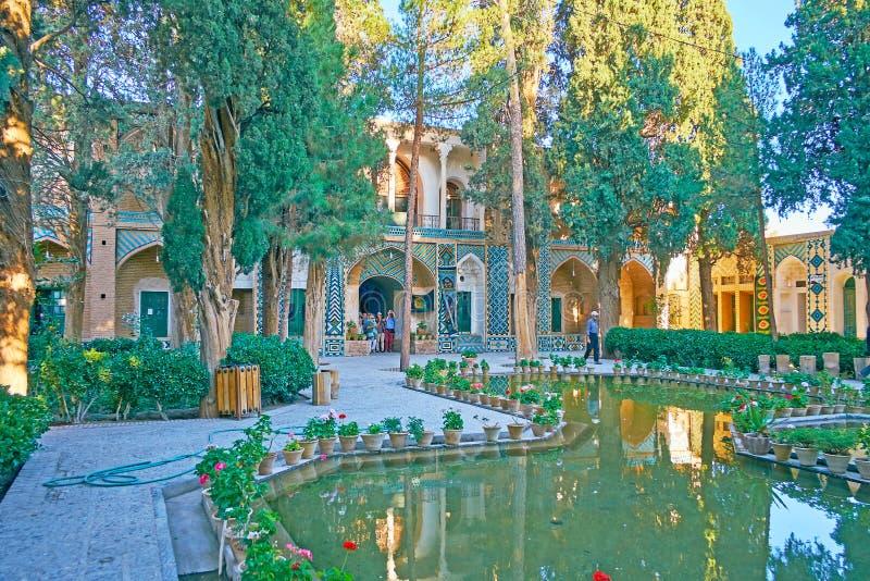 Giardino persiano dello scià Nematollah Vali Shrine, Mahan, Iran fotografie stock