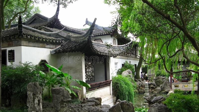Giardino prolungato, Suzhou, Cina immagine stock libera da diritti