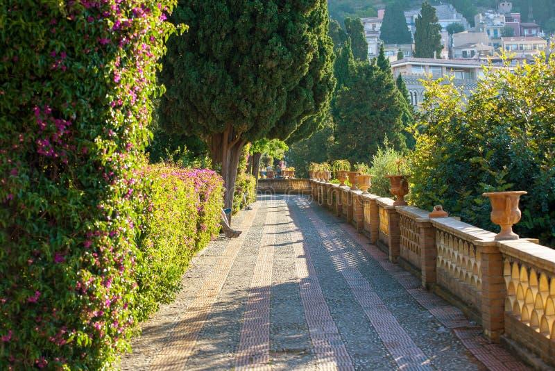 Giardino pubblico, Taormina immagini stock libere da diritti