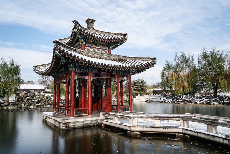Giardino storico di pechino cina nell 39 inverno fotografia - Giardino di inverno ...