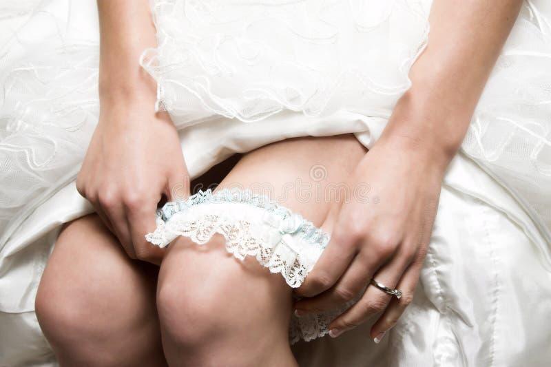 Giarrettiera nuziale fotografie stock