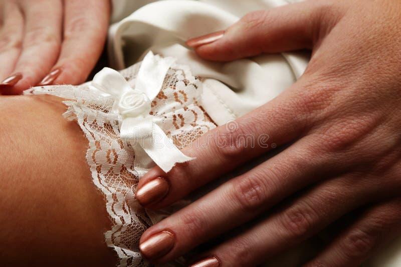 Giarrettiera nuziale fotografie stock libere da diritti