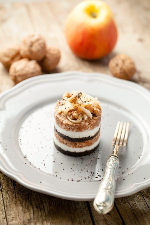 Gibanica slovène traditionnel de Prekmurska de tarte image stock