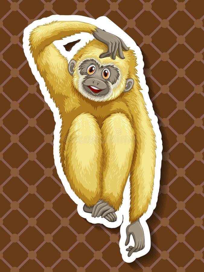 gibbon illustrazione vettoriale