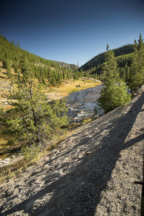 Gibbon River Valley Wyoming imagens de stock royalty free