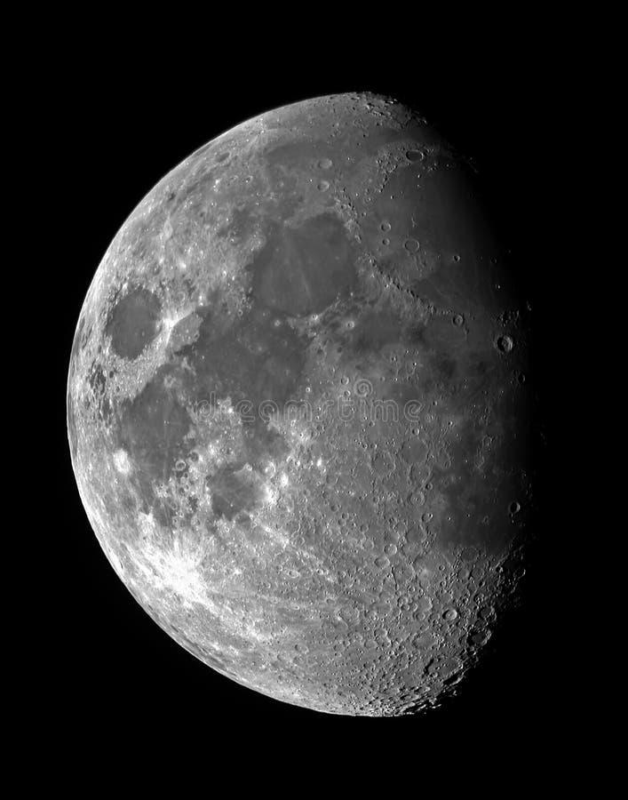 gibbous вощить луны стоковая фотография rf