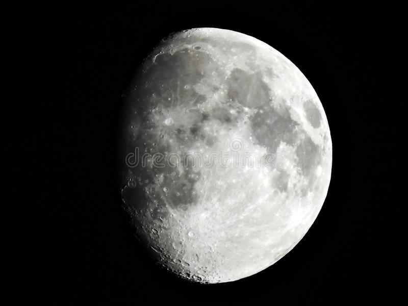 Gibbous moon stock images