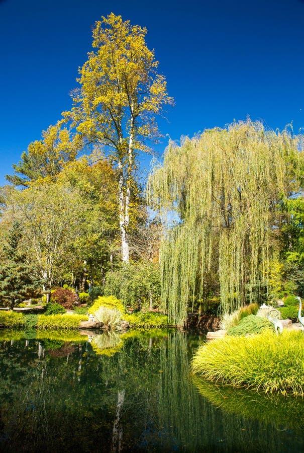 Gibbs-Garten Georgia im Fall stockbilder