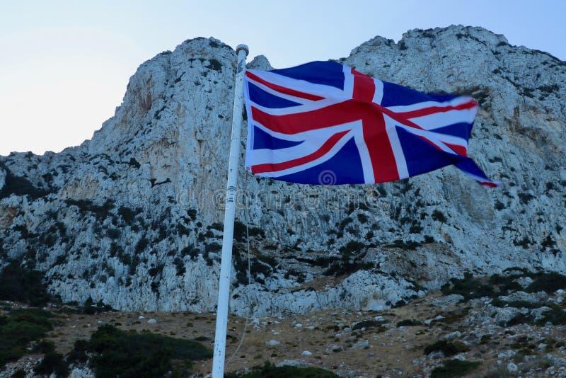 GIBILTERRA, Dwayne Johnson e bandiera britannica immagini stock