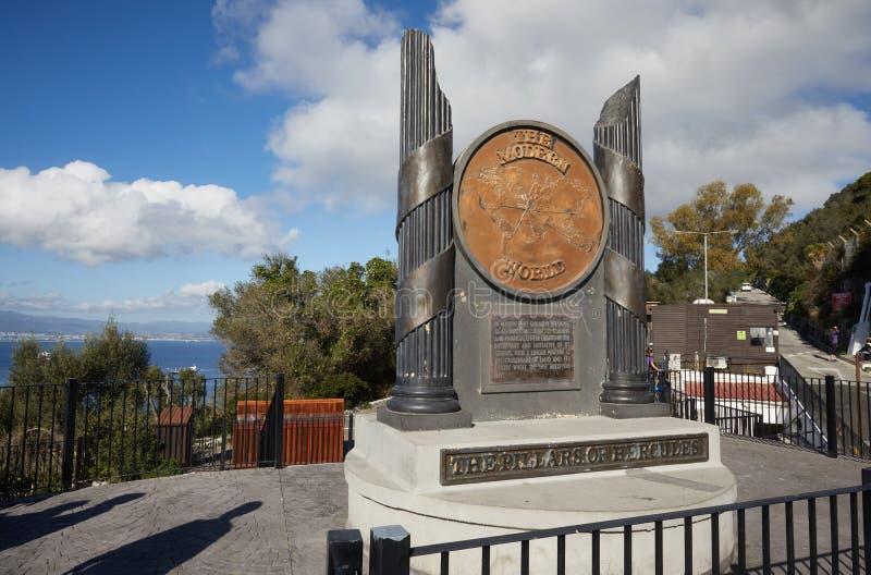 Gibilterra, punti di interesse nell'area d'oltremare britannica sullo sputo del sud della penisola iberica, fotografie stock