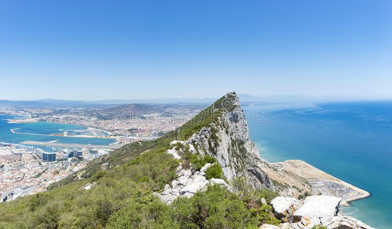 Gibilterra, Regno Unito: La punta della roccia di Gibilterra immagine stock