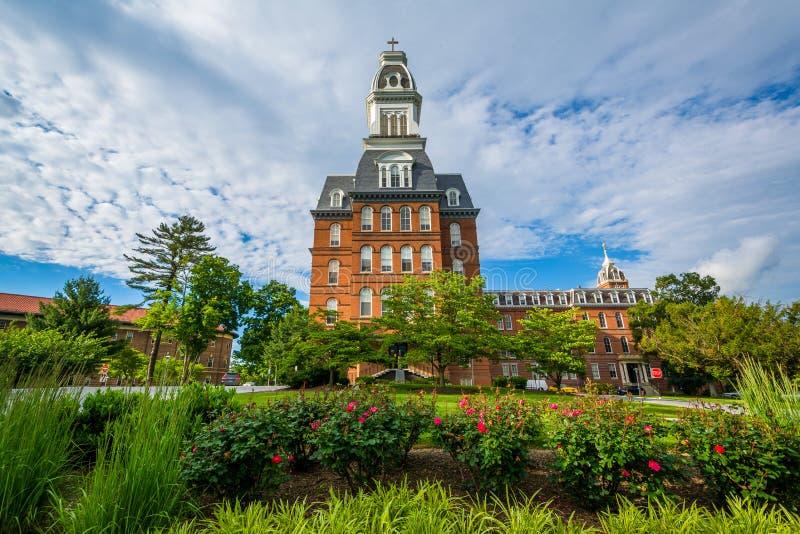 Gibony Hall przy Notre Damae Maryland uniwersytet w Baltimore, Maryland obraz royalty free