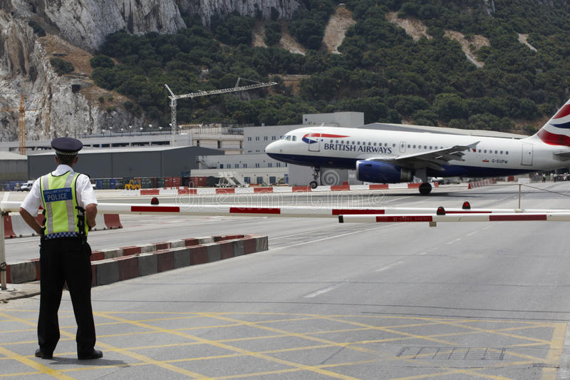 Download Gibraltar Airport editorial photography. Image of landing - 17966022