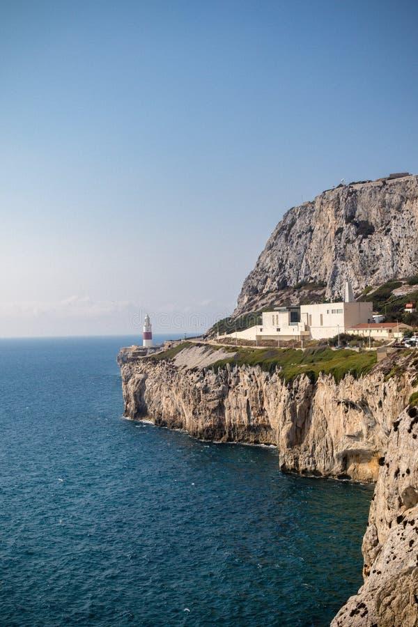 Gibraltar crematorium wschodnia część skała obrazy royalty free