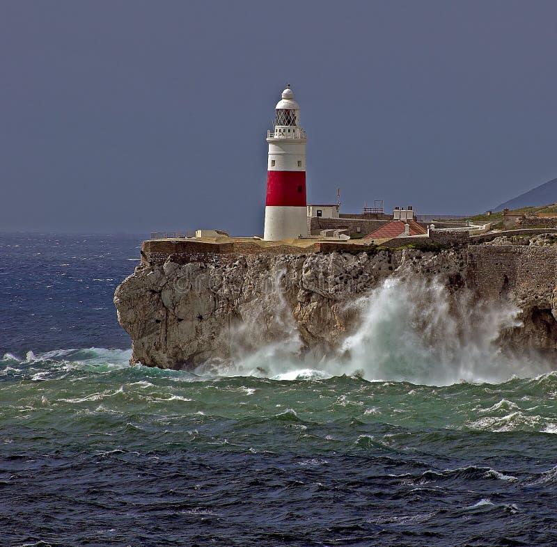 Download Gibraltar-Europa Point Lightho Stock Photo - Image: 4299128
