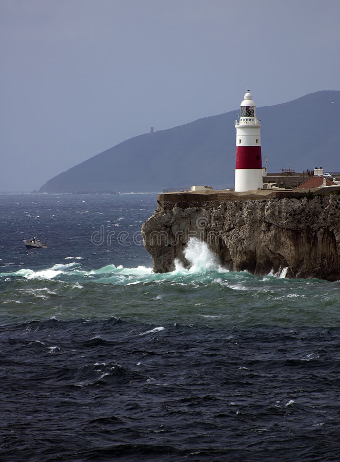 Download Gibraltar-Europa Point Lightho Stock Photo - Image: 4299534