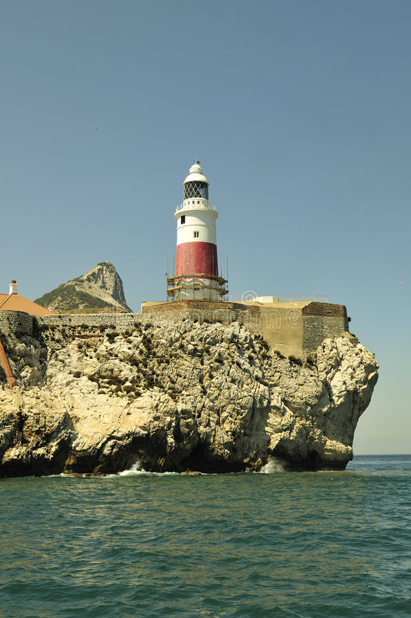 Download Gibraltar-Europa Point Lightho Stock Image - Image: 9253571