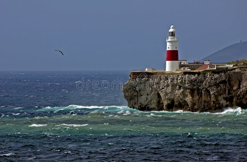 Gibraltar-Europa Point Lighthouse-05.jpg Royalty Free Stock Images