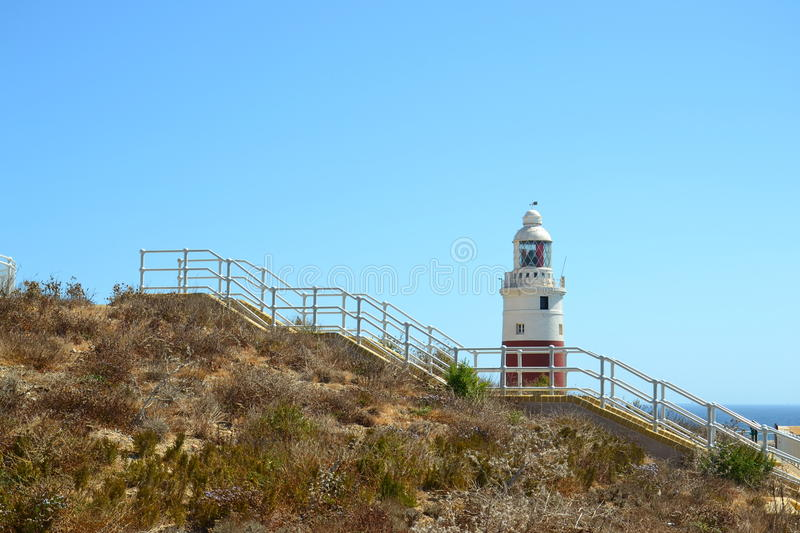 Download Gibraltar, Europa Point Lighthouse Stock Image - Image: 26822289