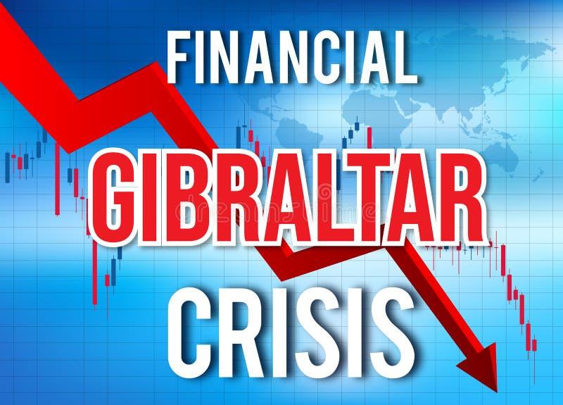 Gibraltar Financial Crisis Economic Collapse Market Crash Global Meltdown. Illustration vector illustration