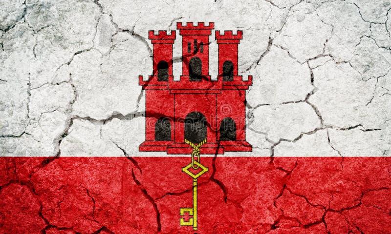 Gibraltar flagga royaltyfria bilder
