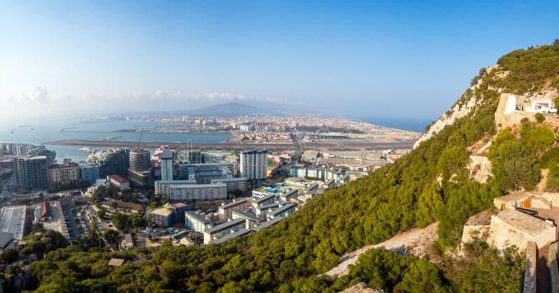 Gibraltar, Flughafen, La Línea de la Concepción stockbilder