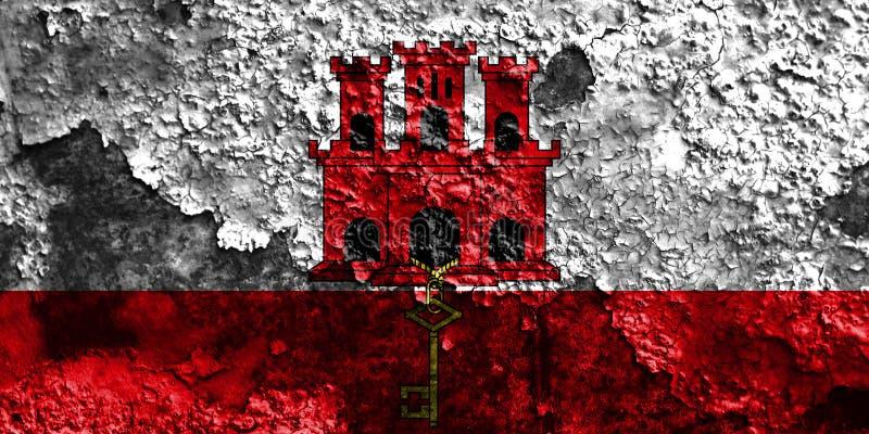 Gibraltar grungeflagga, brittiska utländska territorier, Britannien dep arkivfoton