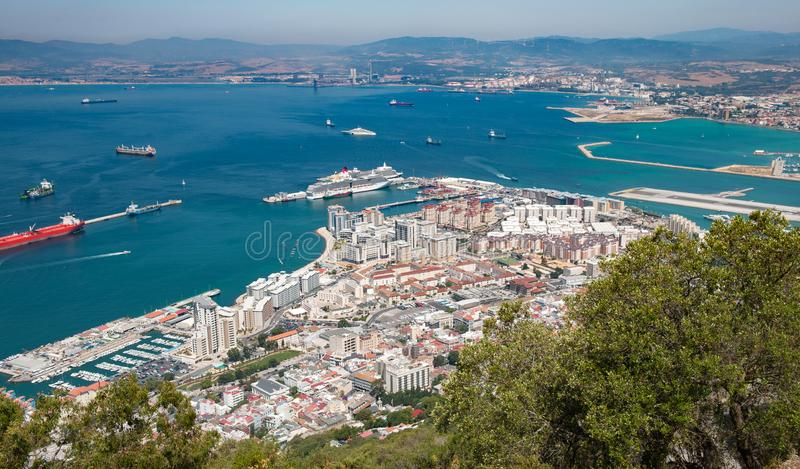 Gibraltar view from above stock photography