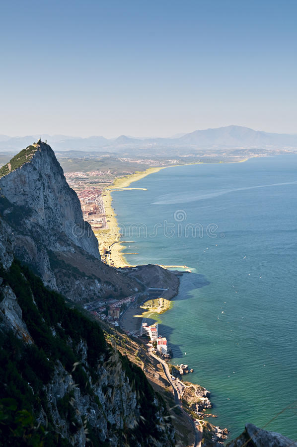 Gibraltar-Landschaft lizenzfreie stockfotografie