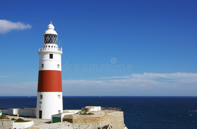 Gibraltar-Leuchtturm lizenzfreies stockbild