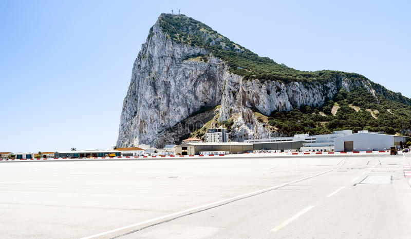 gibraltar lotniskowa skała zdjęcie royalty free