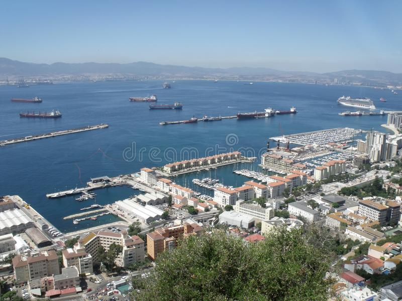Gibraltar - mening van de Rots royalty-vrije stock fotografie